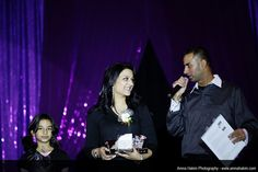 2013 Seema Haider with Zayna and Hunsdeep announcing the winner of Seema Haider's makeup giveaway