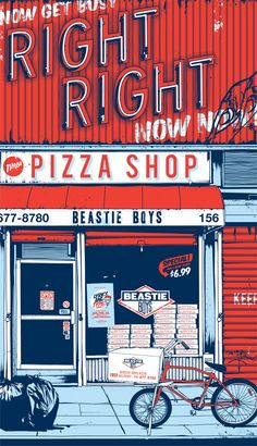"""""""Now get busy! Right Right Now Now"""" The Beastie Boys.  By Lyrics and Type artist Timba Smits"""
