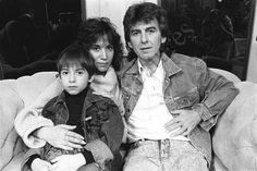 George and Olivia Arias, his second wife, and their son Dhani