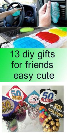 13 diy gifts for friends easy cute - 40 Blows, Diy Gifts For Friends, Diy Tutorial, Easy, Cute, Food, Kawaii, Essen, Meals