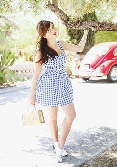 blue checkered dress by Carrie WishWishWish, via Flickr