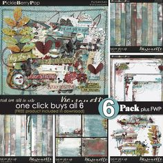 Never Give Uup ~ 6-pack PLUS FWP by Kawouette