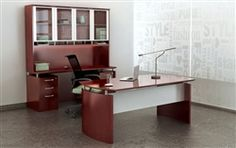 Mayline Napoli series furnished executive office.