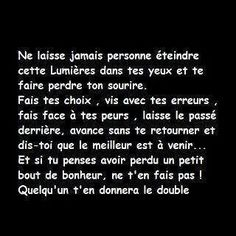 Ca c'est sure Words Quotes, Life Quotes, Think, French Quotes, Positive Attitude, True Words, Positive Affirmations, Beautiful Words, Cool Words