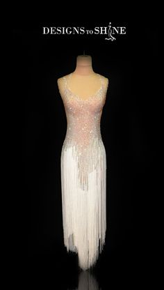 "Designs to Shine - ""Playing Fringe"" Ballroom Costumes, Latin Ballroom Dresses, Ballroom Dance Dresses, Dance Costumes, Ballroom Dancing, Salsa Dress, Dresser, Beautiful Costumes, Dance Fashion"