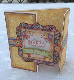 Folk Floral Gatefold card