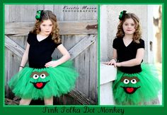 Oscar the Grouch Character Tutu Skirt & Matching Hairbow by ppdmb, $39.99