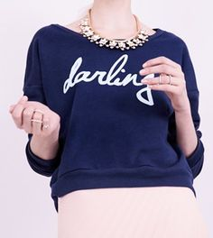 "LOVE this ""darling"" sweatshirt!! http://rstyle.me/n/fcwnrnyg6"