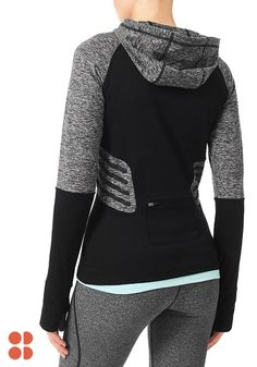 Making a high-speed fashion statement, this thermal run hoody is a revolution in winter running gear. The reflective panels are designed for sophisticated style and to keep you safe and seen after dark during late-night runs. Click to check out Sweaty Betty's latest collection of workout wear.