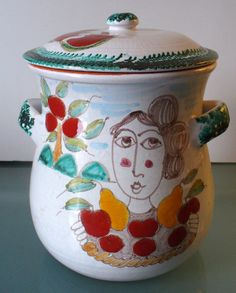 Made in Italy Desimone Style Cookie Jar by EurotrashItaly on Etsy, $125.00