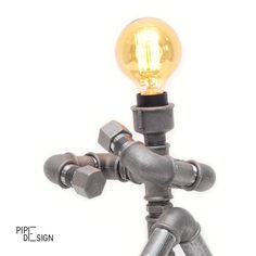 """Lamp """"Cody"""" #pipe #pipefurniture #pipelamp #pipedesign #lamp #lampdesign #ironpipe #standlamp #light #homeswethome #home #homedecor #pipedesign #eestidisain by pipe_design"""