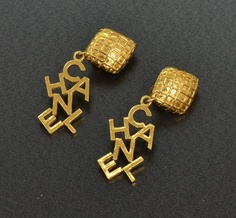 #Chanel Vintage Gold Tone CC #Earrings $330.00