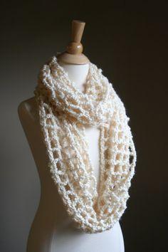 Women's Infinity Cowl Scarf Spring Scarf Crochet by crochetgallery,