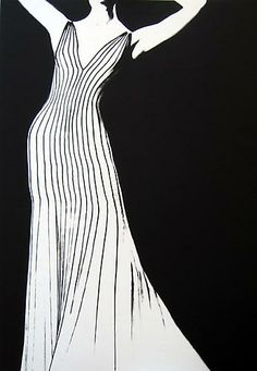 Lillian Bassman, Dress by Thierry Mugler, For German Vogue, 1998, gelatin silver print
