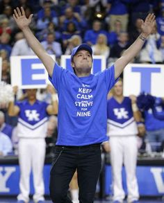 Here is Josh at the Kentucky Wildcats basketball game this weekend (in his home state)...