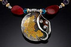 Gale Schlagel Fine Silver Precious Metal Clay Custom Necklace www.hollygage.com