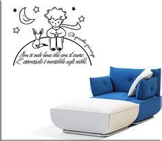 Adesivi murali frase il piccolo principe sono simpatiche decorazioni adesive da parete perfette per arricchire la stanza dei tuoi bambini.
