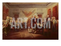 Signing the Declaration of Independence, 4th July 1776, C.1817 Giclee Print by John Trumbull at Art.com