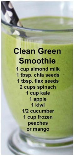 Clean Green Smoothie Full of leafy greens fresh fruits and a few extra healthy surprises you wouldn't even know were in there! Clean Green Smoothie Full of leafy greens fresh fruits and a few extra healthy surprises you wouldn't even know were in there! Smoothie Detox, Smoothie Vert, Juice Smoothie, Smoothie Drinks, Diet Drinks, Clean Smoothie, Vitamix Green Smoothie, Mean Green Smoothie, Beverages