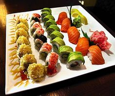 Sushi With Ies Fun Party Food Christmascolors Squarepennies Pinterest
