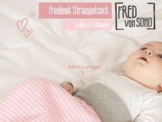 Freebook und Anleitung für einen Strampelsack für Babies von 0 - 6 Monate