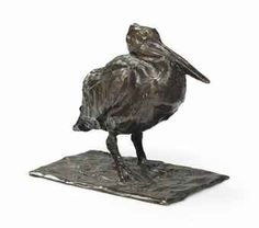 Rembrandt Bugatti (France 1885-1916), Petit Pélican au Repos, brown patinated bronze, 1904. Sold Christie's 2014.