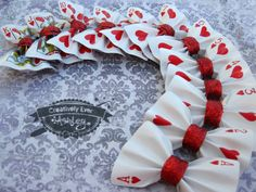 Custom real Playing Card hair bow clip or by CreativelyEverAshley