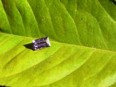 Natural 0.35ct Purple Sapphire Straight Baguette Cut Loose Sapphire by Gemsbygigialonia on Etsy