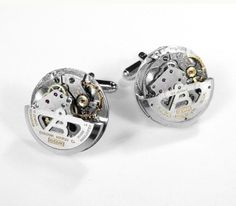 Steampunk Mens Watch Cufflinks RARE Bulova SWIVEL by edmdesigns, $285.00