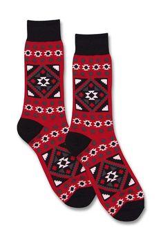 Southwest Blanket Socks