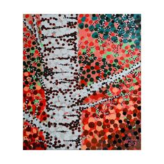 'Connections' - art print at Threadless. Pointillism, Special Characters, Red S, Lower Case Letters, Lowercase A, All Design, New Art, Birch, Connection