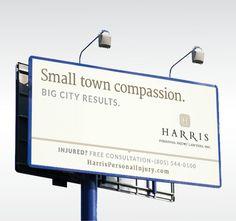 Harris Personal Injury Lawyers Billboard