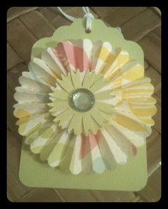 FOUR Paper Rosettes Pastel Spring Flowers Green by alohacookiegirl, $4.25