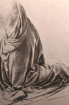 Michelangelo drawing: drapery study