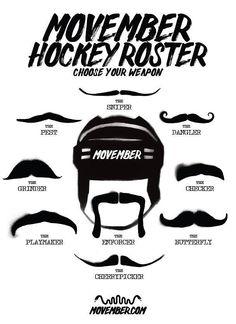 Movember Hockey Roster