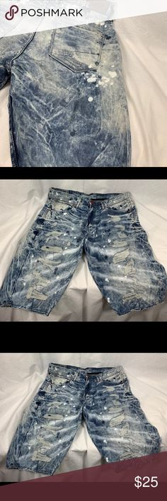 9e3ca1bce07 JORDAN CRAIG DISTRESSED JEAN SHORTS Size 34 New without tags Jordan Craig  jeans shorts size 34
