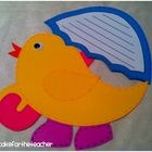 April is a rainy month-- make it FUN, too!!  Your littles will create a SUPER cute chick with an umbrella, another mini-craft, and various writing  $