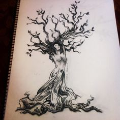 tree tattoos on back for women | Sketching the Tree of Life