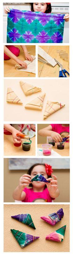love the tie-dye tissue paper!
