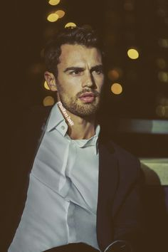 Theo James- Cruise last looking annoyed at SJ and King