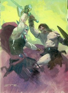 Thor vs Conan the Barbarian by Esad Ribic