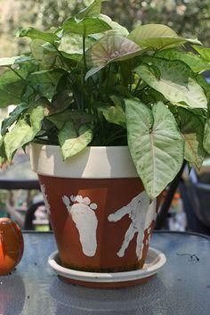 Handprint/Footprint flower pots