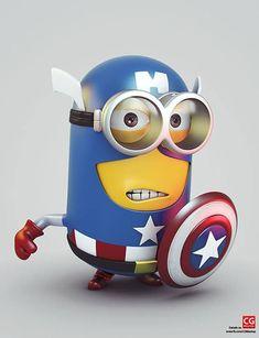 Despicable Me's Minion as Captain America