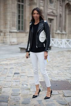 Paris Street Style Spring 2013 - white and black