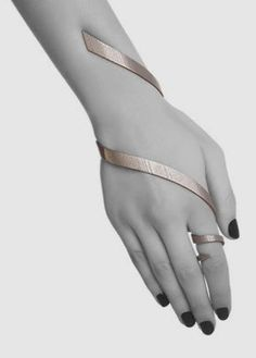 "Bracelet | Kimberly. ""Ovitz"". Bronze-infused stainless steel"