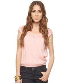 Lace & Pintucked Top | FOREVER21 - 2000034514