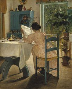 Nordic Art. Laurits Andersen Ring: 'Aan de ontbijttafel' (1898) | Groninger Museum    Collection Nationalmuseum Stockholm   www.nationalmuseum.se