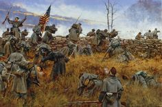 "March 23, 1862 – First Battle of Kernstown - Confederate General Thomas J. ""Stonewall"" Jackson suffers a rare defeat when his attack on Union forces in the Shenandoah Valley fails.  Jackson was trying to prevent Union General Nathaniel Banks from sending troops from the Shenandoah to General George McClellan's army near Washington.  Painting by Keith Rocco."