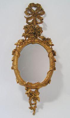 Florentine ITALY Rococo DECORATIVE MIRROR Vintage by garishvibe, $75.00