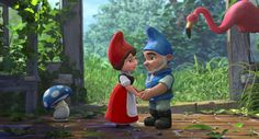 Gnomeo And Juliet Characters | Image of Gnomeo and Juliet (Gnomeo and Juliet in love) - Screened